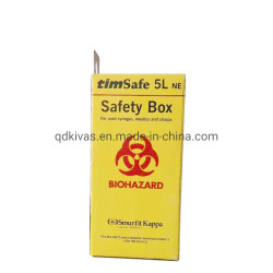 casella di sicurezza di carta di Sharps residui medici 5.0L per la siringa e l'ago