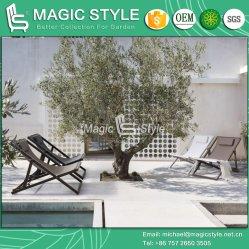 Actividades exteriores de linga têxtil Jardim cadeira espreguiçadeira Varanda Varanda cadeira dobrável Patio Chair Hotel Projeto Mobiliário têxteis