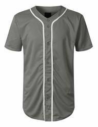 De bulk In het groot Polyester die Van uitstekende kwaliteit van 100% Duidelijk Mens Honkbal Jersey met Uw Embleem afdrukken