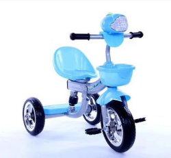 音楽ライトバスケットが付いているかわいい子供三輪車Trike