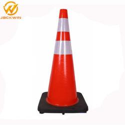 UV-résistance PVC trafic cône manchon réfléchissant trafic cône une haute visibilité de la sécurité routière