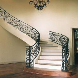 La máxima calidad delicado diseño de baranda de escalera de hierro forjado cercas de metal