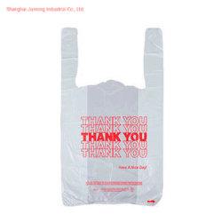 De douane Afgedrukte Plastic PE het Winkelen Zak van de T-shirt van de Boodschappentas van de Zak