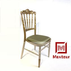 安くしかし装飾されるの一般使用のための強い金属の結婚式のイベントの館の椅子