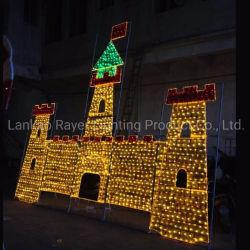 2D-малого размера доставки жилых рождественские украшения в саду под руководством стиле фонари
