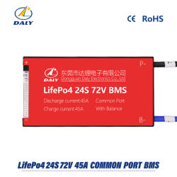 Daly 24s 45A 72V 18.650 LiFePO4 BMS/ la Junta de Protección de la batería de litio hierro con el inicio de nivelación de taladrar el equilibrio y estándar.