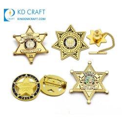 Médaille personnalisé de gros bâton de marche de l'épinglette d'un insigne gravés personnalisés UK Agent uniforme russe de l'épaule de l'Armée de métal shérif personnalisé Star insigne militaire