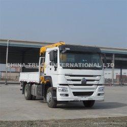 10T 크레인 트럭 Sino HOWO 4x2 트럭 장착형 크레인