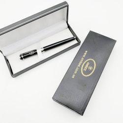 Promoção em Preto e Prata metálico de caneta esferográfica metálica Esferográfica Hotel Business Dom Pen
