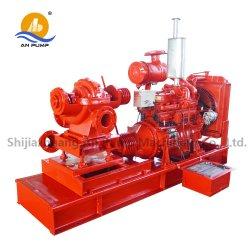 Moteur diesel matériel de lutte contre horizontale du feu ensemble de la pompe à eau