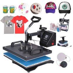 30*38cm 기계를 인쇄하는 1개의 결합 열 압박 기계 승화 인쇄공 제 2 열 이동 피복 모자 찻잔 격판덮개 t-셔츠에 대하여 8
