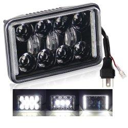 Высокая мощность DRL 24V светодиодный индикатор Auto Car Фары Angel Daymaker 7 дюйма 12V мотоцикл 4X6 LED фары для Jeep