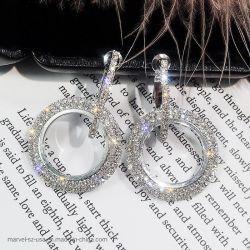 Form-Hochzeits-Kristallpartei-Silber-Absinken-Ohrring-Frauen-Schmucksachen