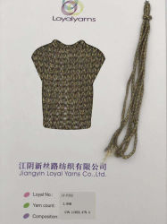 Oco de acrílico de fio trançado com Lurex misturado Tricotar Fornecedor Ly-P252