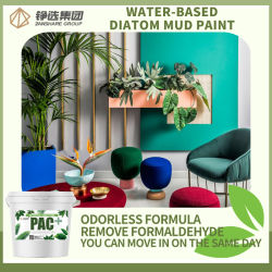 어린이 객실 무취의 물 기반 Diatom Mud Latex 페인트 친환경 인테리어 벽 코팅 다채로운 장식 재질 아크릴 라텍스 페인트