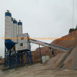 De Machines van de bouw! 35m3/H concrete het Mengen zich Installatie met de Transportband van de Riem