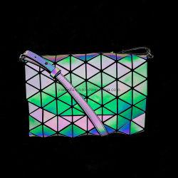 反射幾何学的なハンドバッグの明るいダイヤモンドのショルダー・バッグ