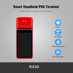 Terminal pos inteligente Android com GPS de 5 MP para câmara 3G Wi-Fi e Bluetooth com impressora de 58 mm (R330C)