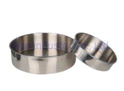 لوح كعكة أقراص من الفولاذ المقاوم للصدأ/لوحة مسطحة القاع/لوحة طعام/وجبة غداء متعددة الأغراض ص ب E10201