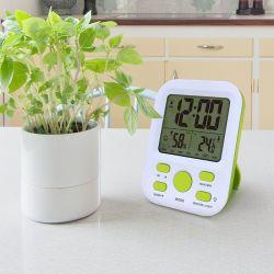 온도와 습도 전시 전자 시계를 가진 디지털 자명종 여행 시계