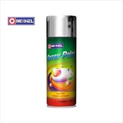 400ml secado rapido Multiuso en aerosol acrílicos de colores al por mayor calor alto cromo plateado metálico pintura de aerosol Efecto espejo