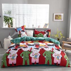 100% полиэстер ткань из микроволокна детские кровати печати мультфильмов подушками,