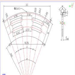 Obere und untere Schlitzmesser / Klingen zum Schneiden von Wellpappe Karton