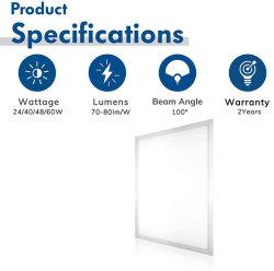 لوحة LED للسقف 60 × 60 لوحة خفيفة السعر المصنع فائق النحافة 10 مم الجسم 40 واط