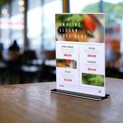 حامل علامة أكريليك لسطح المكتب لصورة مقاس 8.5 × 11 بوصة