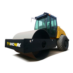 Rullo del costipatore dell'asfalto di vibrazione di Sinoway rullo compressore vibratorio del singolo timpano idraulico da 14 tonnellate