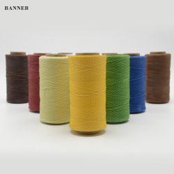100% de poliéster trançado Rosca Parafinado Round Rosca Parafinado 0,8 mm para máquinas de costura
