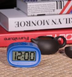 安く青いバックライトLCDデジタル時計