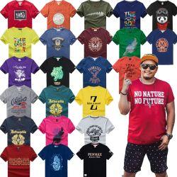Смешайте цвет мужчин T- рубашки с короткими рукавами (H19-4)