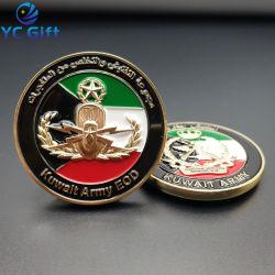 제작자 주문 금속 예술은 연약한 사기질 3D Golf Sport Souvenir Coins Company 승진 디자인 로고를 가진 선물에 의하여 도금된 은 군 도전 동전 기장을 만든다