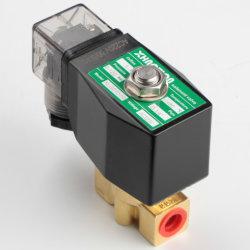 Haute pression en laiton 120 bar, de l'électrovanne AC220V, vanne normalement fermée pour l'air eau huile