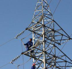 110kv/132kv القطب الكهربائي أنجيل الصلب شبكية ناقل الحركة برج القدرة