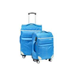 La mode à l'intérieur en nylon doubles roues chariot poignée de gros bagages souple