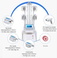 360 Eliminación de grasa Cryo 5 manijas máquina de crioliposis 360 crioliposis Adelgazamiento 3 Cryo maneja 4 Cryo cabeza para la pérdida de peso