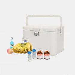 Portador de la vacuna 12L con hielo paquetes de gel con temperatura controlada cajas de embalaje