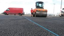 PP Biaxial Plastic Geogrid /UniAxial أو Biaxial PP Geogrid