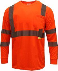 Het hoge Overhemd van de Koker van Workwear van het Zicht Lange met Weerspiegelende Banden