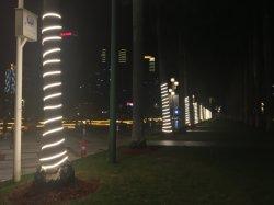 A decoração de árvore de caracteres LED de iluminação LED de luz da corda de LED à prova de luz de faixa de IP65 Cortável e extensível de Longa