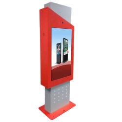 De openlucht Totem die van de Kiosk van het Scherm van de Aanraking de Digitale Sigange LCD Vertoning van 55inch IP65 met Vensters WiFi adverteren
