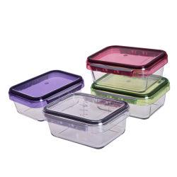 뚜껑을%s 가진 도매 붕규산 유리 음식 점심 콘테이너 상자