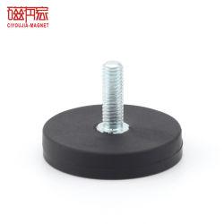 Recubierto de goma imán pot el aparejo de la luz de trabajo la Base de Montaje magnético de la cámara con rosca externa.