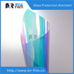 Arco-Íris plástico holográfico Película iridescente de PVC transparente