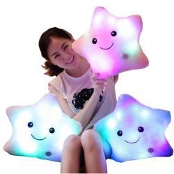 Peluche almohada LED de colores calientes estrellas kids juguetes regalo de Navidad Regalo de Cumpleaños