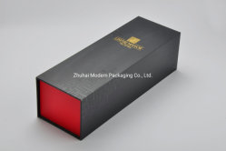 OEM MDFの木の贅沢なガラスビンのワインのペーパー包装のギフト用の箱