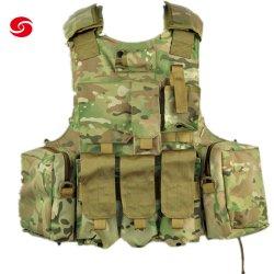 Kundenspezifische Tarnung-taktische Platten-Träger-Weste-/Qualität Camo taktische Platten-Träger-Rüstungs-Militärnylonweste