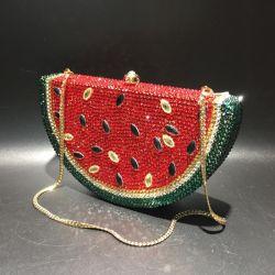 Leb1244 Watermeloen Shaped Girl Fashion Tassen Diamond Evening Clutch Glitter De tas van de Dames van de Steen van het Kristal